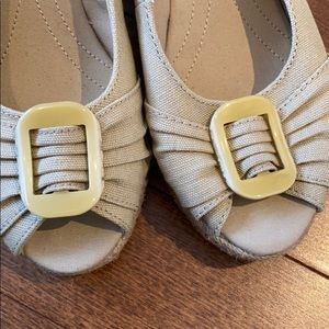 Naturalizer open toe wedges